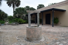 Cistern in the Sabal Palm Sanctuary patio