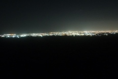 brownsville lights from sanctuary at night