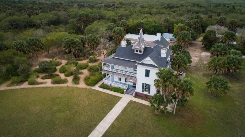 Aerial shot of the present day Rabb Plantation/The Sabal Palm Visior Center